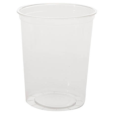 WNA Deli Containers, 32 Oz, Clear, 25 Containers Per Pack, Carton Of 20 Packs
