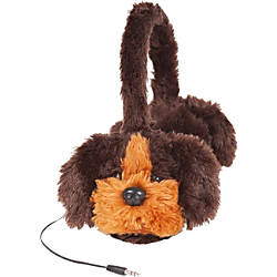 ReTrak Retractable Animalz Dog Headphones