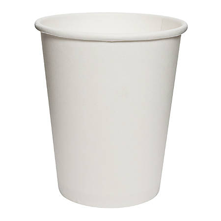 Solo® Uncoated Paper Cups, 8 Oz, White, Case Of 1,000