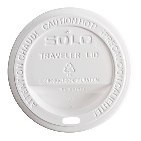 Solo Cup Large Traveler Dome Hot Cup Lids - Plastic - 1000 / Carton - White