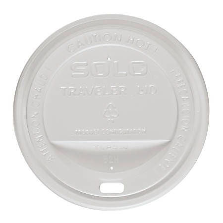 Solo Cup Traveler Dome Hot Cup Lids - Dome - 1000 / Carton - White