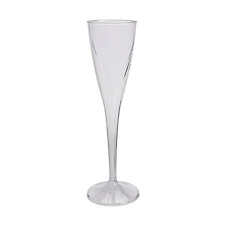 Classicware One Piece Champagne Flutes 5 Oz Clear Plastic 10 Packs