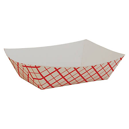 SCT® Paper Food Baskets, 0.5 Lb Capacity, Red/White Checkerboard, Carton Of 1,000 Baskets