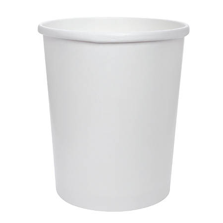 Solo® Flexstyle Double Poly Paper Containers, 32 Oz, White, 25 Per Pack, 500 Per Case