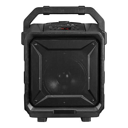 """iLive Tailgate Bluetooth® Speaker, 18.6""""H x 8.9""""W x 14.5""""D, Black, ISB659B"""