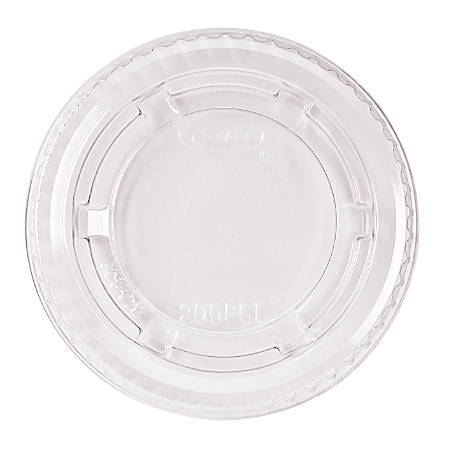 Dart Portion Cup Lids, Plastic, Clear, 125 per bag, 20 bags per carton, Sold by the Carton