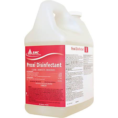 RMC Proxi Disinfectant - Concentrate Liquid - 0.50 gal (64 fl oz) - Clean Citrus Scent - 4 / Carton - Yellow