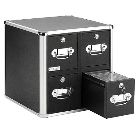 Vaultz 4 Drawer Cd Cabinet 15 12 H X 14 W D Black By Office Depot Officemax