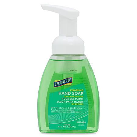 Genuine Joe Foaming Hand Soap - 8 fl oz (236.6 mL) - Pump Bottle Dispenser - Kill Germs - Hand - Bio-based, Pleasant Scent, Moisturizing - 24 / Carton