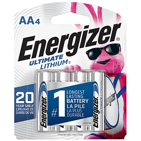Energizer® Photo Ultimate Lithium AA Batteries, Pack Of 4 Batteries
