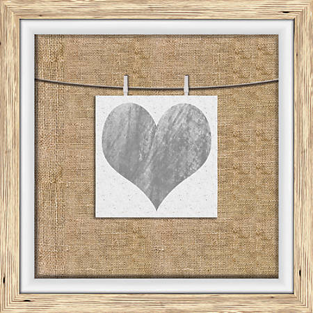 """PTM Images Photo Frame, Heart Watercolor, 14 1/4""""H x 1 3/8""""W x 14 1/4""""D, Driftwood"""