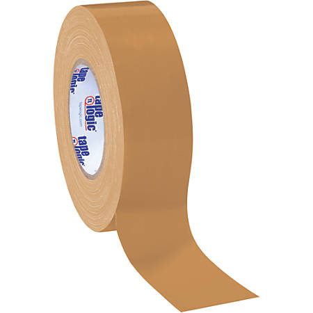 "Tape Logic® Color Duct Tape, 3"" Core, 2"" x 180', Beige, Case Of 24"