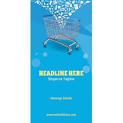 Custom Vertical Display Banner Shopping Cart