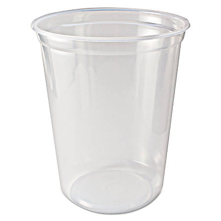Fabri-Kal® Microwavable Deli Containers, 32 Oz, Clear, Pack Of 500 Containers