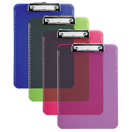 "Office Depot® Brand Clipboard, 9"" x 12"", Assorted Colors (No Color Choice)"