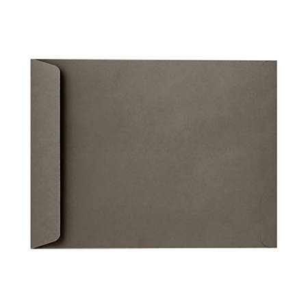 """LUX Open-End Envelopes With Peel & Press Closure, 10"""" x 13"""", Smoke Gray, Pack Of 50"""