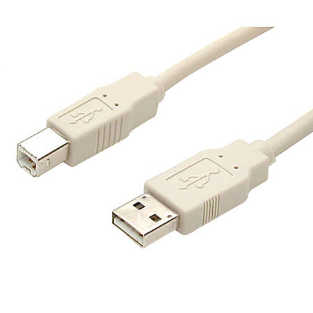 StarTech.com USB cable - 4 pin USB Type A (M) - 4 pin USB Type B (M) - 10 ft - Type A Male - Type B Male - 10ft - Beige