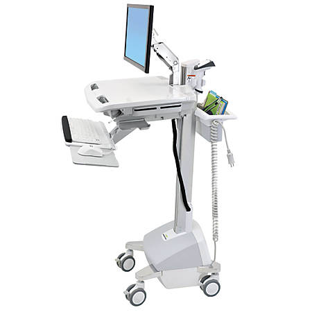 Ergotron StyleView EMR Cart with LCD Arm, White