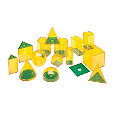 Learning Resources Relational GeoSolids Shapes Clear