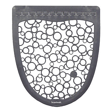 "Boardwalk® Urinal Mat 2.0 Rubber Restroom Floor Mats, 17 1/2"" x 20"", Gray/White, Pack Of 6"