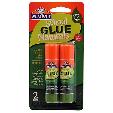 Elmer's® School Glue Naturals Glue Stick, 0.42 Oz, Clear, Pack Of 2