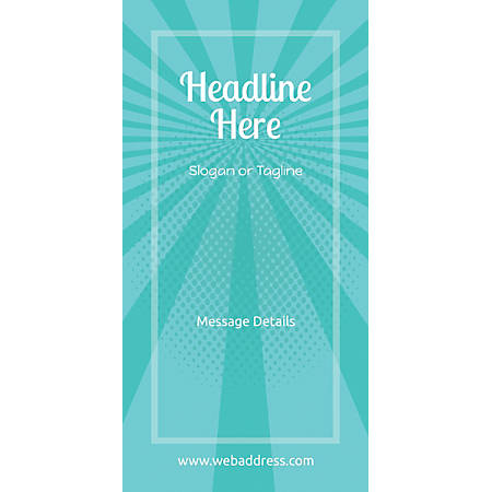 """Custom Vertical Banner Without Stand, Scrim, 24"""" x 85"""""""