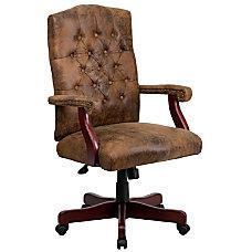 Flash Furniture Classic Suede High Back