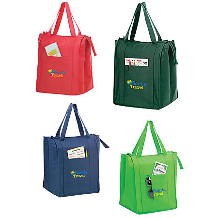 "Insulated Grocery Tote, 16""H x 12""W x 10""D"