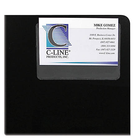 "C-Line® Top-Loading Business Card Holders, 2"" x 3 1/2"", Clear, Pack Of 10"