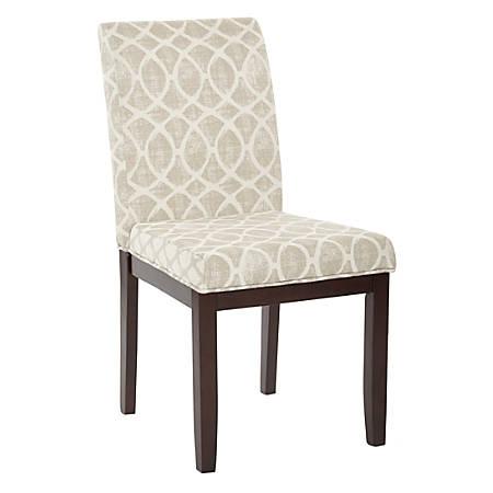 Ave Six Dakota Parsons Chair, Mist Geo Sand/Dark Brown