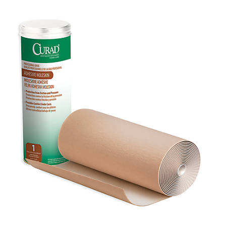"CURAD® Moleskin Rolls, 9"" x 4 Yd., Tan, Pack Of 12"