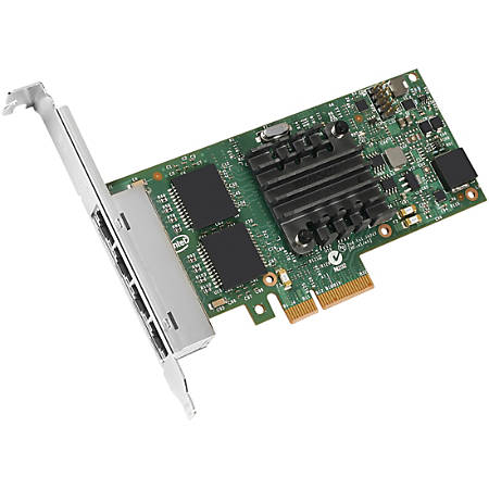 Intel Ethernet Server Adapter I350-T4 - PCI Express x4 - 4 Port - 10/100/1000Base-T - Internal - Low-profile, Full-height - Retail