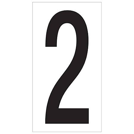 "Office Depot® Brand Vinyl Warehouse Labels, DL9302, Number 2, 3 1/2"", Black/White, Case Of 50"