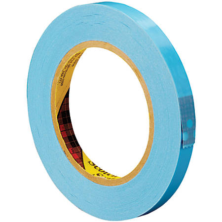 "Scotch® 8896 Strapping Tape, 3"" Core, 0.5"" x 60 Yd., Blue, Case Of 72"