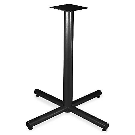"Lorell® Hospitality X-Leg Bistro Height Table Base, For 42""W Top, Black"
