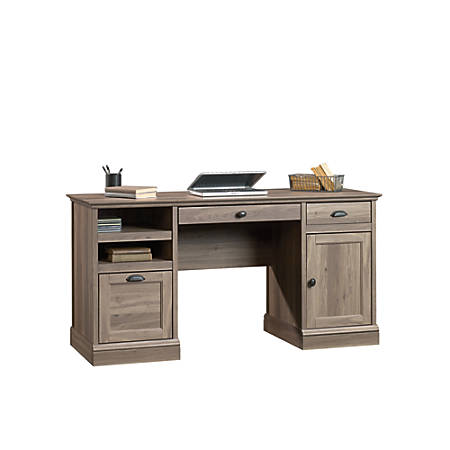 Sauder® Barrister Lane Executive Desk, Salt Oak