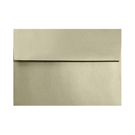 "LUX Invitation Envelopes With Moisture Closure, A2, 4 3/8"" x 5 3/4"", Silversand, Pack Of 50"