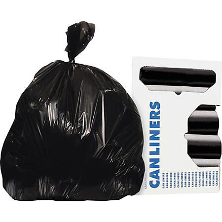 """Heritage AccuFit RePrime Can Liners - 23 gal - 28"""" Width x 45"""" Length x 0.90 mil (23 Micron) Thickness - Black - Resin - 200/Carton - Can"""
