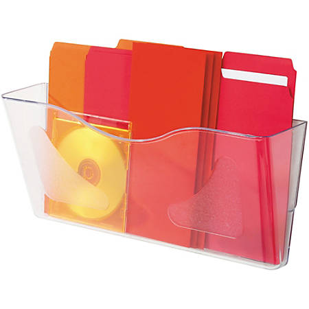 "Deflecto Euro-Style DocuPocket Wall File, 6-5/8""H x 15""W x 4""D, Clear"