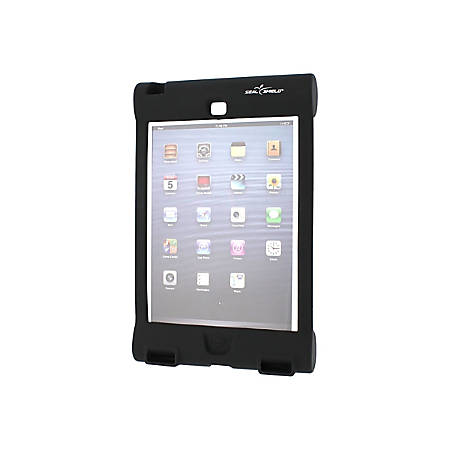 Seal Shield Bumper Case iPad Mini - Antimicrobial Product Protection - For iPad mini - Black - Slip Resistant, Water Proof, Bacterial Resistant, Impact Resistant, Dust Proof - Silicone