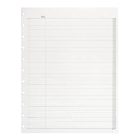 TUL®Discbound Notebook Refill Pages, Letter Size, To Do List Format, 100 Pages (50 Sheets), White