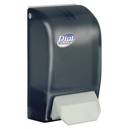 Dial Professional DialProfessional Foam Hand Soap Dispenser - Manual - 1.06 quart Capacity - Black - 6 / Carton