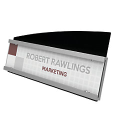 Deflecto Interior Image Nameplate Sign Holder