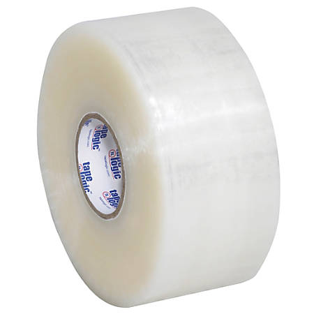 """Tape Logic® #400 Industrial Acrylic Tape, 3"""" Core, 2"""" x 220 Yd., Clear, Case Of 36"""