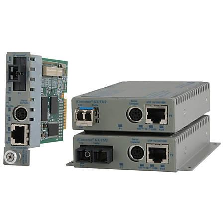 Omnitron Systems iConverter GX/TM2 Media Converter - 1 x Network (RJ-45) - 10/100/1000Base-T, 1000Base-X - 1 x Expansion Slots - 1 x SFP Slots - Internal