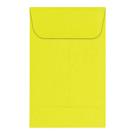 "LUX Coin Envelopes, #1, 2 1/4"" x 3 1/2"", Citrus, Pack Of 1,000"