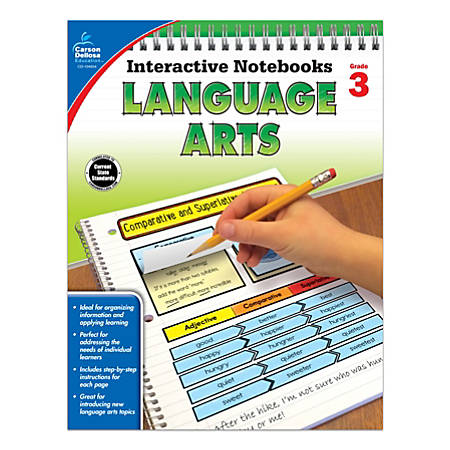 Carson-Dellosa Interactive Language Arts Notebook, Grade 3
