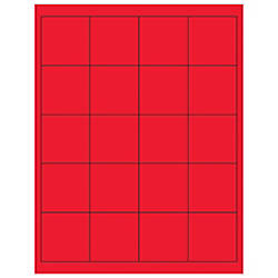 Office Depot Brand Labels LL172RD Rectangle