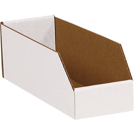 """Office Depot® Brand Open-Top Bin Boxes, 4 1/2""""H x 3""""W x 9""""D, Oyster White, Pack Of 50"""