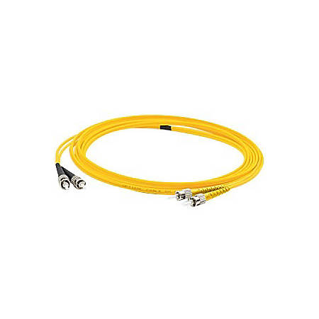 AddOn 1m ST (Male) to FC (Male) Yellow OS1 Duplex Fiber OFNR (Riser-Rated) Patch Cable
